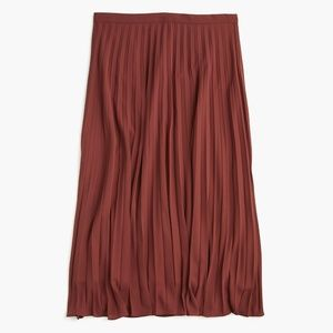 J. Crew Pleated Midi Skirt Mahogany Wine Red 4 4T